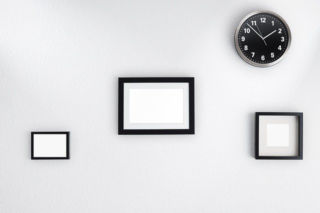 A clock mounted on the wall